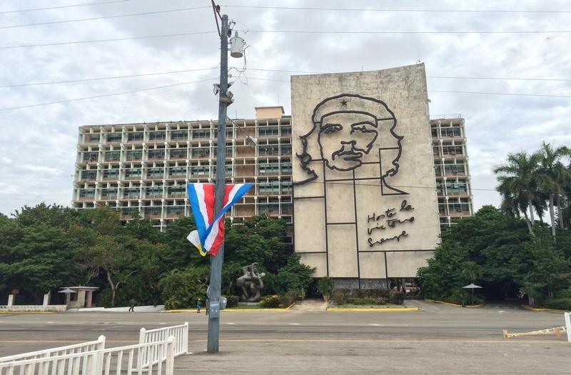 キューバのチェ・ゲバラの壁画