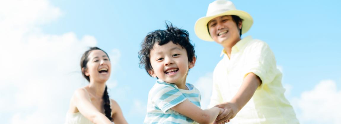 幸せで感動する家族旅行